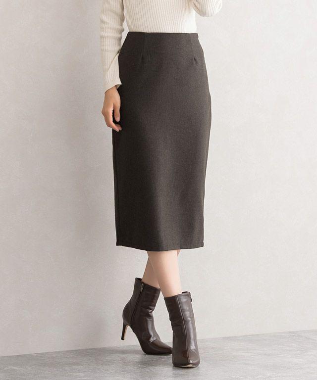 Pierrotウールタイトスカート